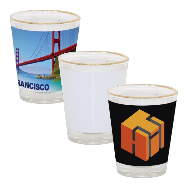 This 1.5 Oz Sublimation Shot Glass Is Great For Souvenir Shops And Promotions! Photo