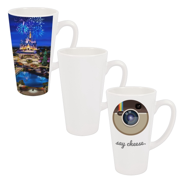 This Cone-shaped Latte Photo Mug Is Stylish And Sublimation-ready For Decoration! Photo