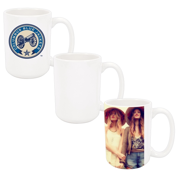 The Best Selling 15oz Photo Mug Is Perfect For Promotions, Gifts, And Much More! Photo