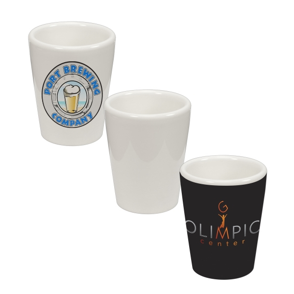 This 1.5 Oz Ceramic Shot Glass Is Our Most Popular Dye-sublimation Substrate! Photo