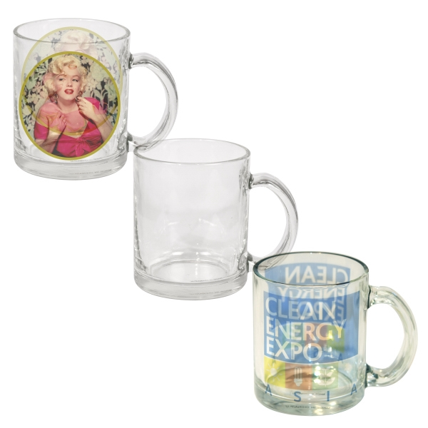 This Full-color Process 10oz Glass Mug Is Ideal For Restaurant & Office Settings! Photo