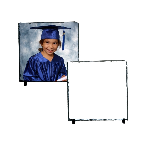 "Large Square Sublimation Photo Slate, 11.7"" X 11.7"" Photo"