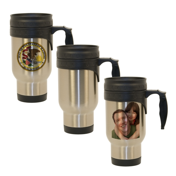 Economy - This High-quality Sublimation Photo Travel Mug Is Built With A Budget In Mind! Photo