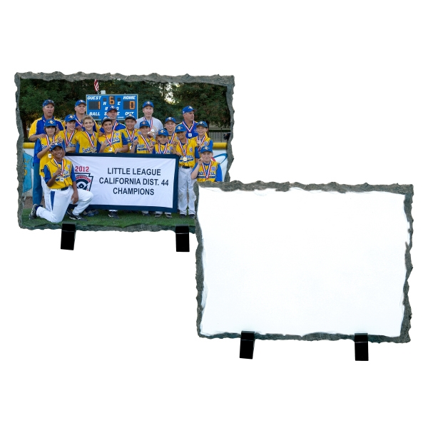 "Medium Rectangle Sublimation Photo Slate, 7.2"" X 5.85"" Photo"