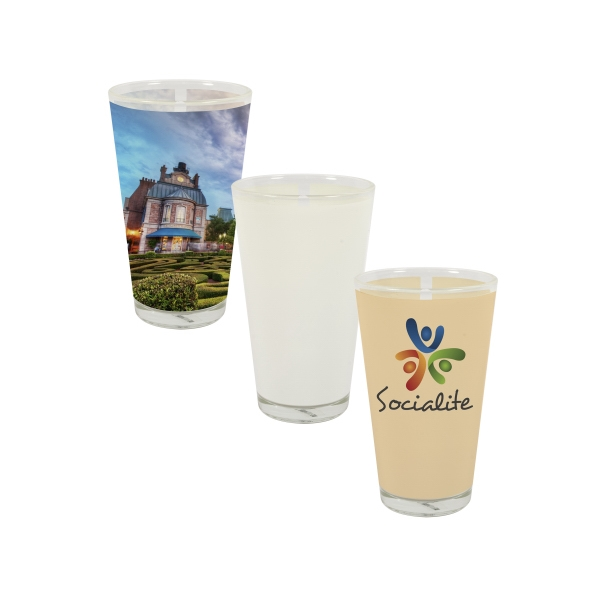 Bottoms Up! This Sublimation Pint Glass Is Great For Promotions, Events, And More! Photo
