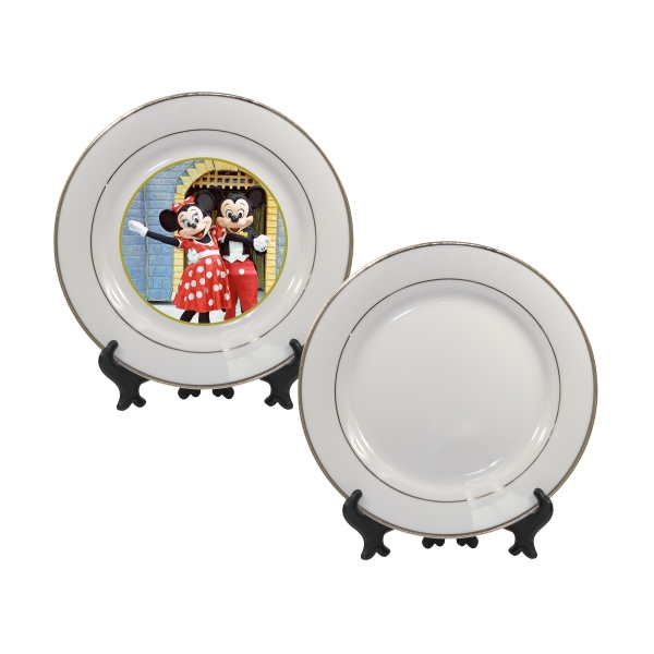 "Finely-crafted Decorative Plate Has The Appeal Of Fine China With O The Price Tag, 8"" Photo"