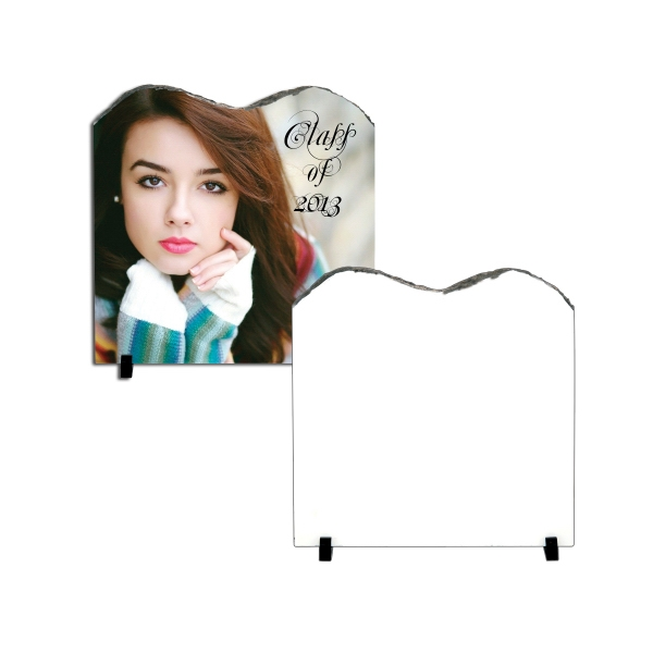 "Large Square Sublimation Photo Slate With M Shape Top, 11.7"" X 11.7"" Photo"