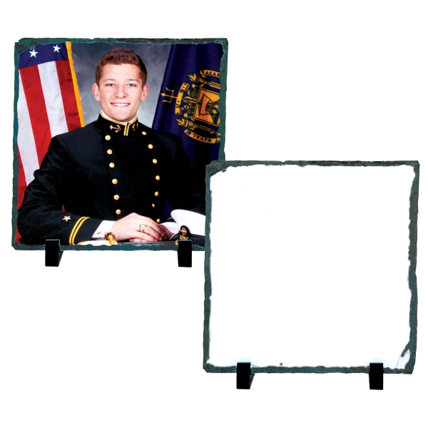 "Medium Square Sublimation Photo Slate, 7.2"" X 7.2"" Photo"