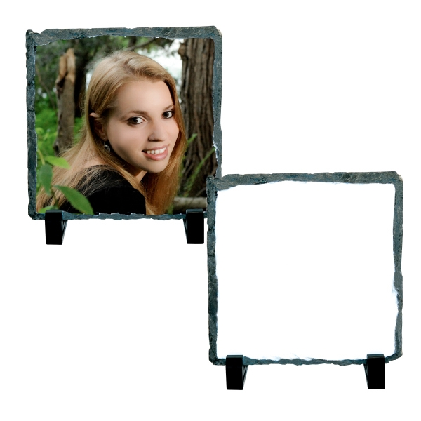 "Small Square Sublimation Photo Slate, 5.8"" X 5.85"" Photo"