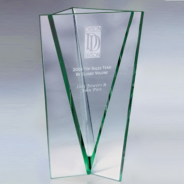 "Armagh Jade Glass Vase Award 8"""