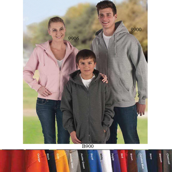 Lady Full Zip Cropped Hooded Sweatshirts