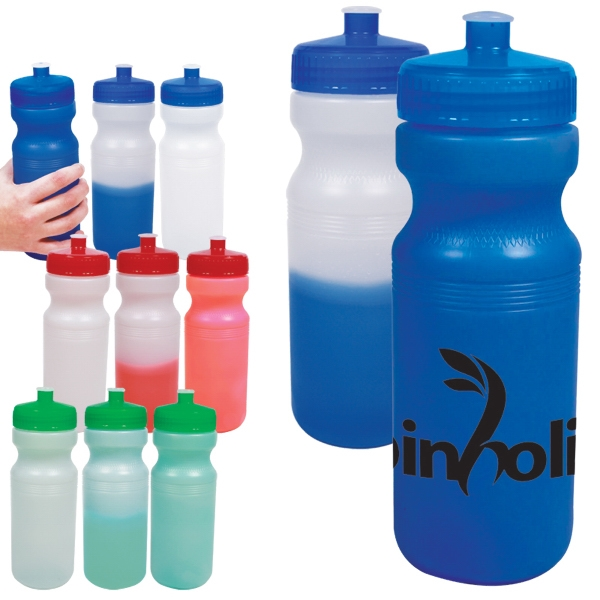 Water Bottle That Changes From Frost To Color When Filled With Cool Water Photo