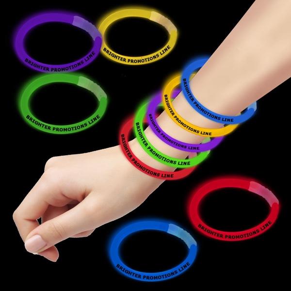 "8"" Single Color Superior Light Up Glow Bracelet"
