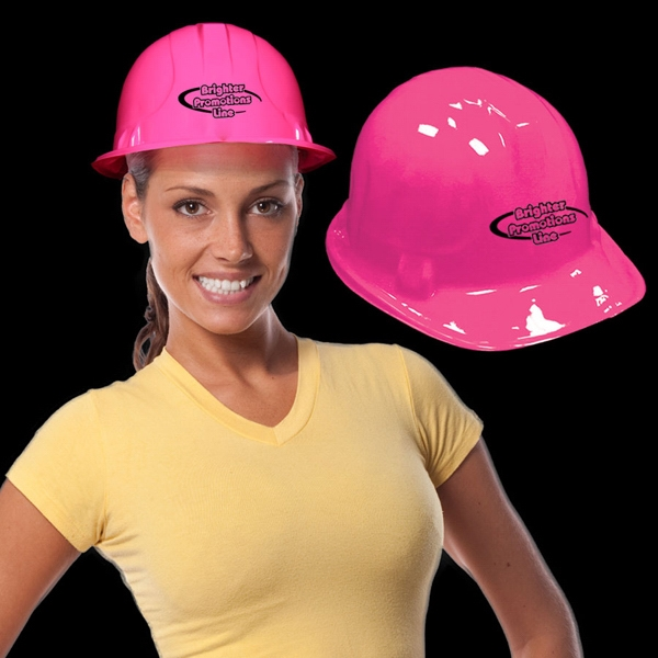 Pink Plastic Construction Hat Photo