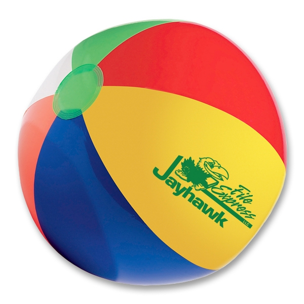 "Beach Ball With 6 Panels, 16"". Phthalate Safe. Measure Inflated Photo"
