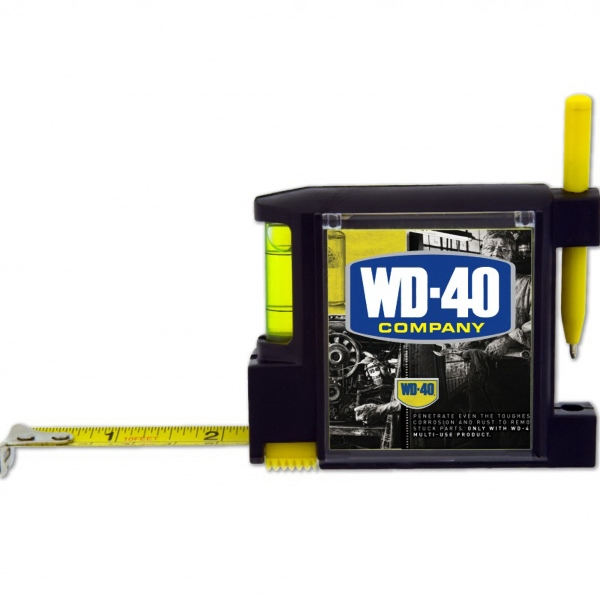 The All-in-one - 50 Working Days - Tape Measure With Level, Sticky Notepad, Pen And Belt Clip Photo