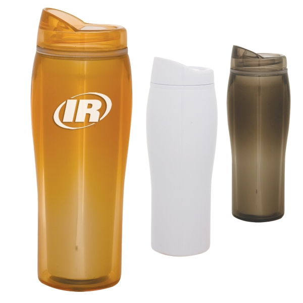 Optima - 14 Oz Travel Tumbler With Press-on Spill Resistant Sip Top. Closeout Photo