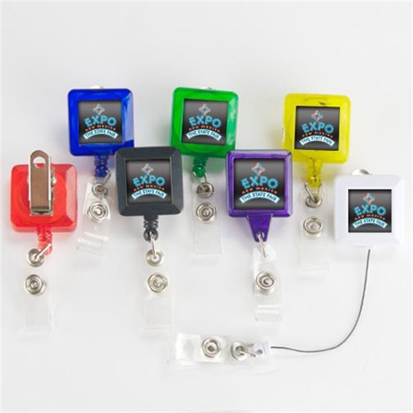 Square Badge Holder Photo