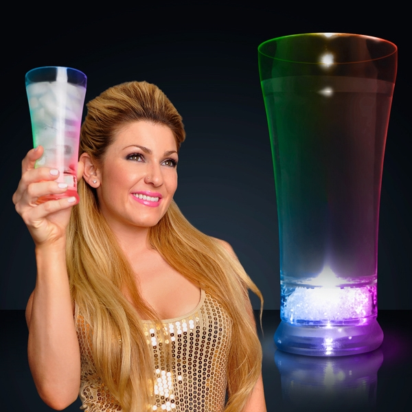 LED Pilsner glass