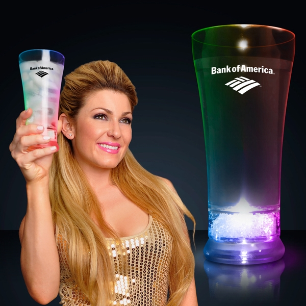 Lighted pilsner glass