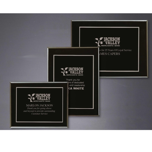 Onyx - Polished Rosewood Plaque Award Photo