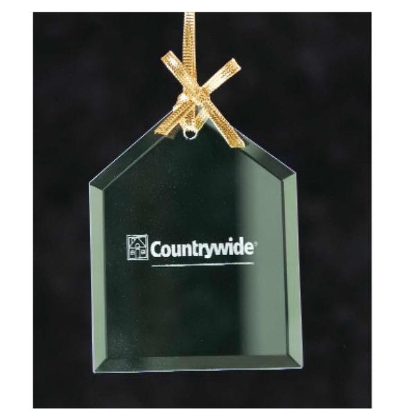 House Jade Glass Ornament