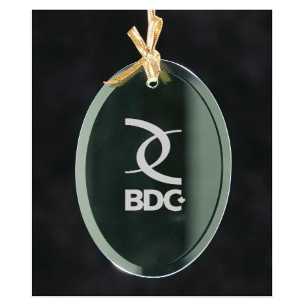 Oval Jade Glass Ornament