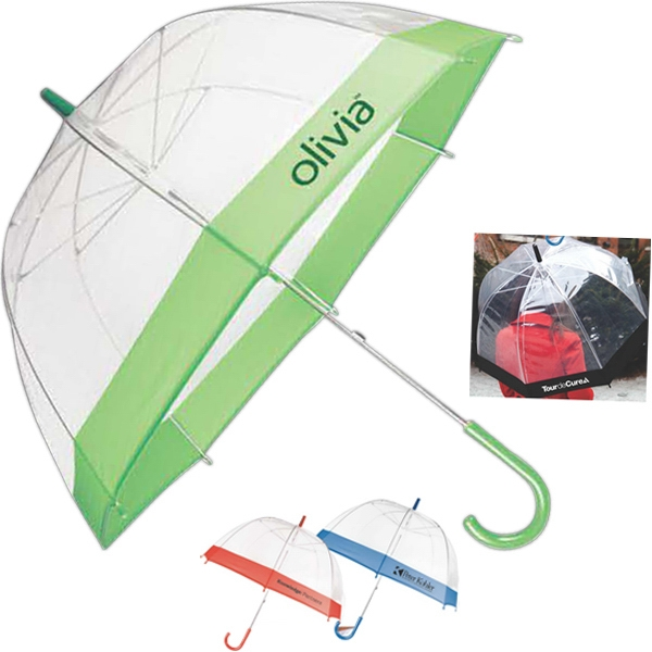 The Bubble - Red - Transparent Eco-friendly Plastic Umbrella, Photo