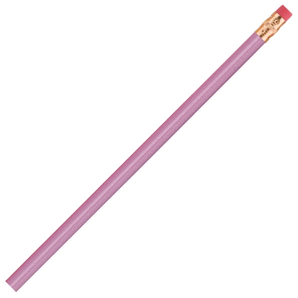 International (tm) - 1 Color Imprint - Lavender - Bonded Core Pencil In A Wood-cased Barrel With Brass-colored Ferrule And Red Eraser Photo