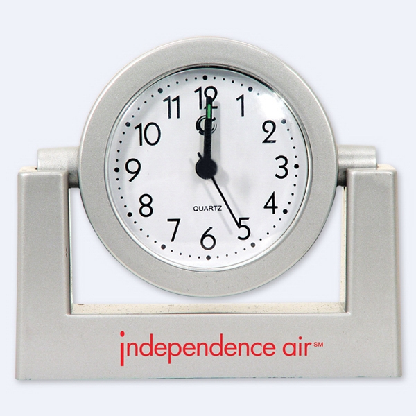 Silver - Alarm Clock. Closeout Price! Available While Supplies Last! Photo