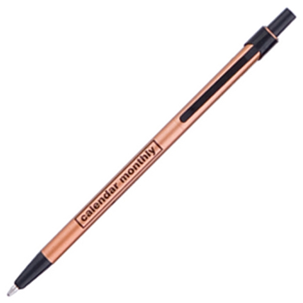 Skinny Mini (tm) - Bronze - Ballpoint Retractable Pen Photo