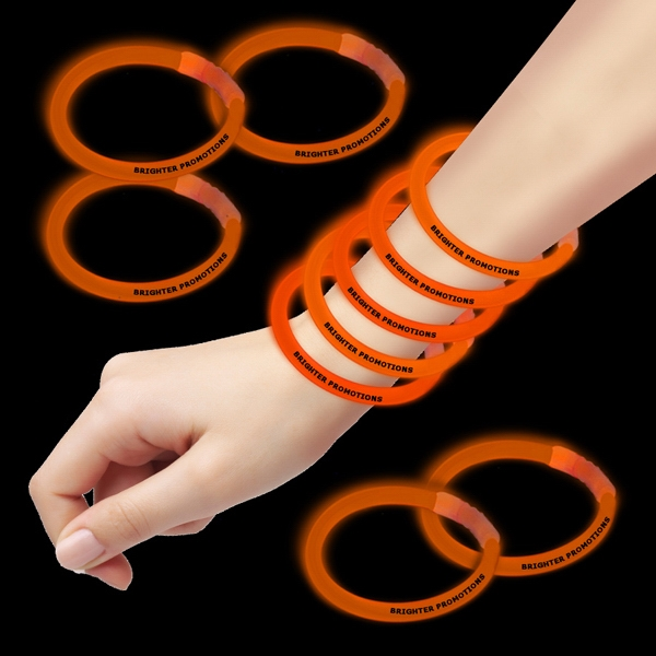 "Orange 8"" Single Color Superior Glow Bracelet Photo"