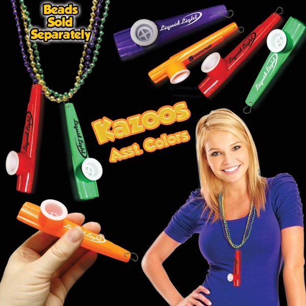 "3 1/2"" Kazoo With J-hook Instrument Medallion Photo"