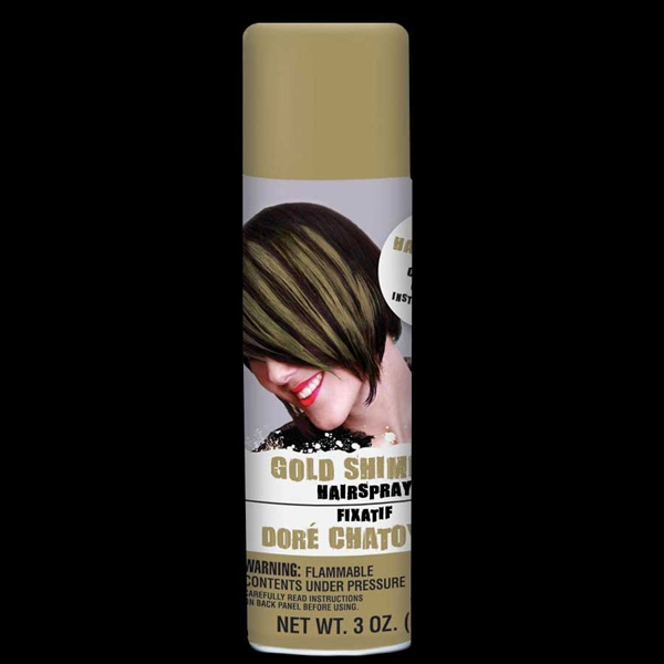 Gold Shimmer Hair Spray