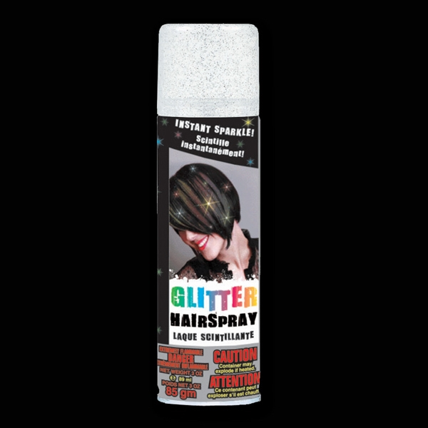 Silver Glitter Hair Spray