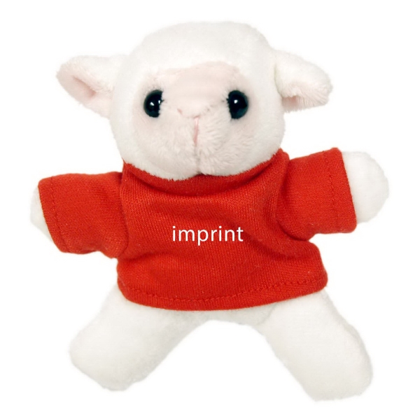 "3"" Lamb Magnet with shirt and one color imprint"