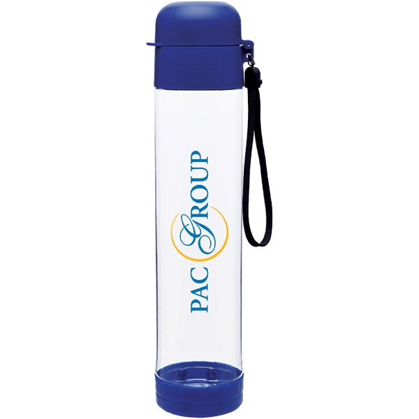 H2go (r) Hybrid - Blue - 25 Oz Single Wall (bpa Free) Eastman Tritan (tm) Copolyester Bottle With Strap Photo