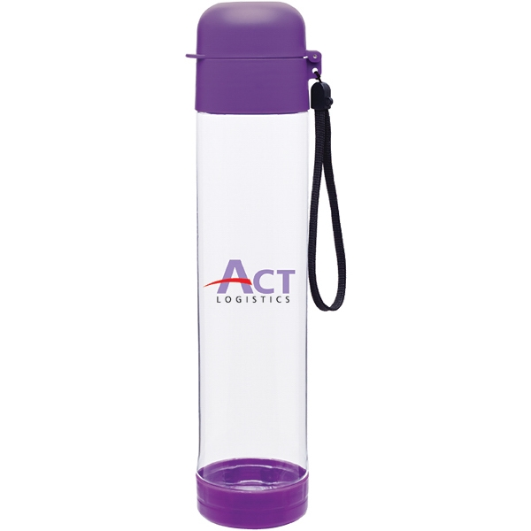 H2go (r) Hybrid - Purple - 25 Oz Single Wall (bpa Free) Eastman Tritan (tm) Copolyester Bottle With Strap Photo