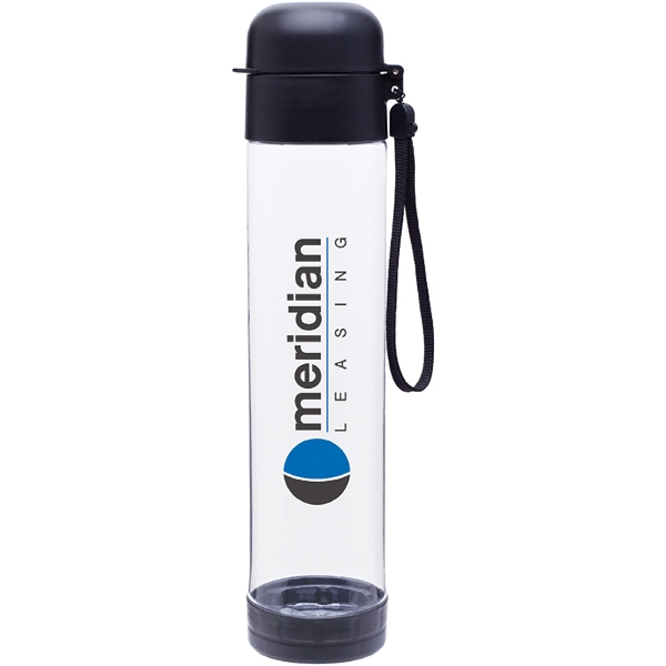 H2go (r) Hybrid - Black - 25 Oz Single Wall (bpa Free) Eastman Tritan (tm) Copolyester Bottle With Strap Photo
