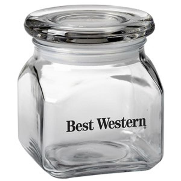 Contemporary Glass Jar / Empty