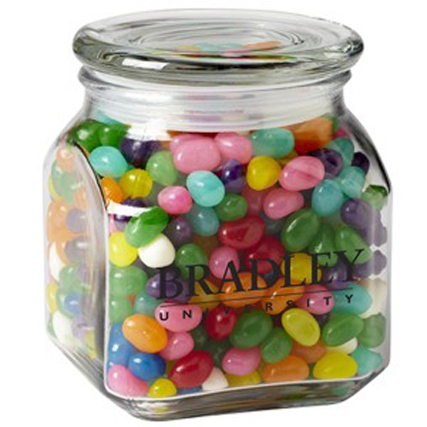 Contemporary Glass Jar / Gourmet Jelly Beans