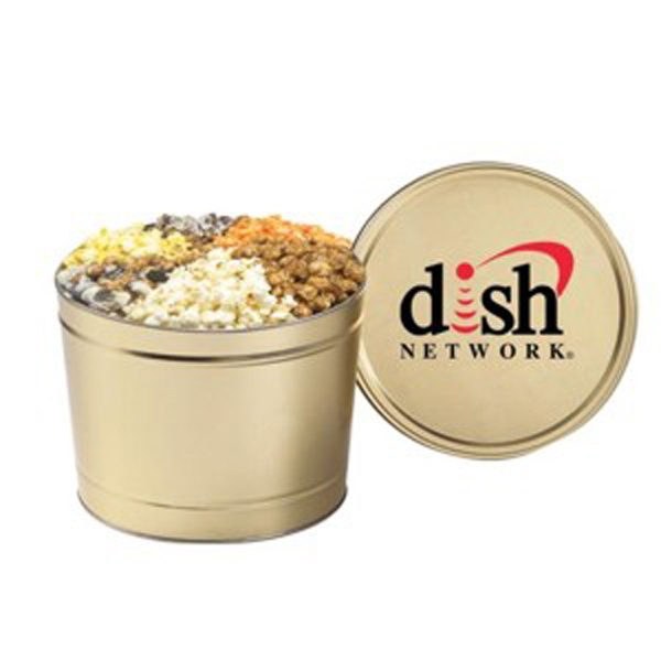 6 Way Deluxe Popcorn Sampler / 2 Gallon Tin