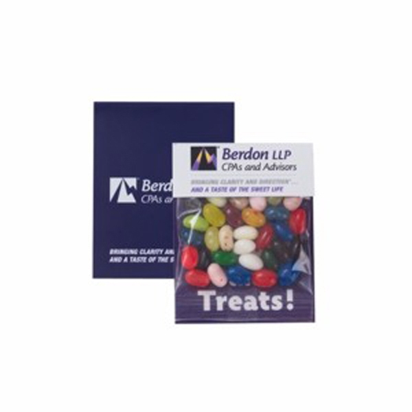 "Gourmet Jelly Beans In A 3"" X 4"" Small Header Bag Photo"