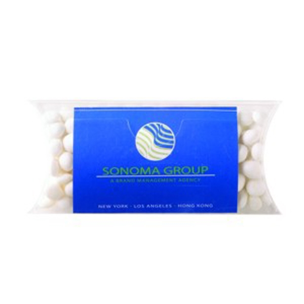 Pillow Case Container with Business Card Slot / White Mints