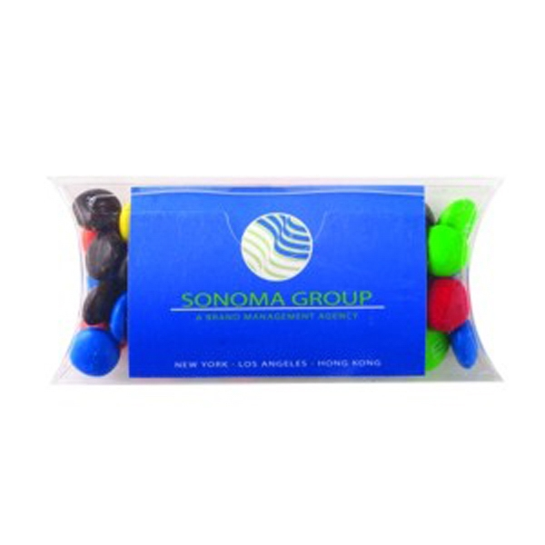 Pillow Case Container with Business Card Slot / Chocolate