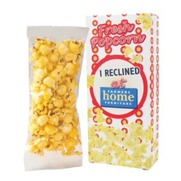 "Butter Popcorn In A Bag And Boxed. Item Size: 2.75"" X 1.125"" X 6"" Photo"