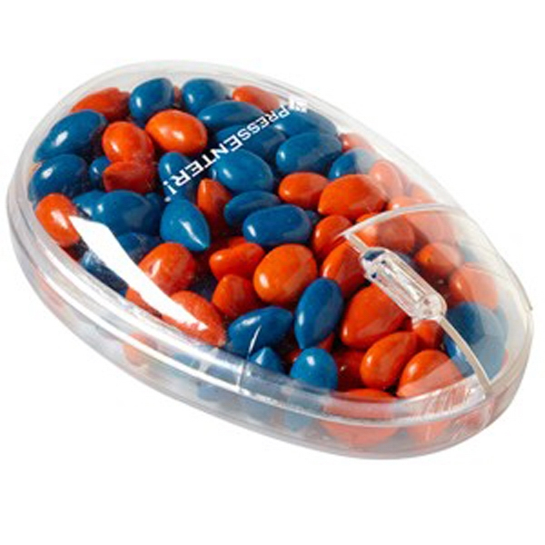 Gemmies (r) - Chocolate Covered Sunflower Seeds In A Computer Mouse Shaped Container Photo