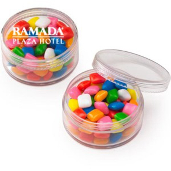 "Mini Gum In A Round Container. Item Size: 2.25"" X 1.125"" H Photo"