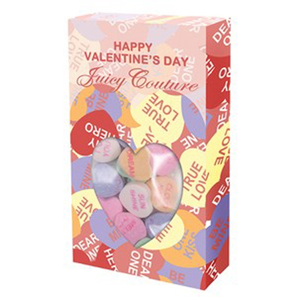13 Conversation Hearts - Candy In A Small Box With Window Photo