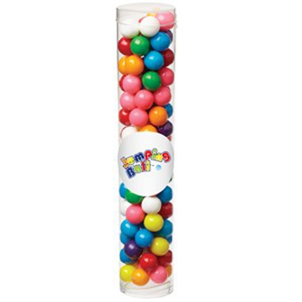 Large Tube with Clear Cap / Gumballs